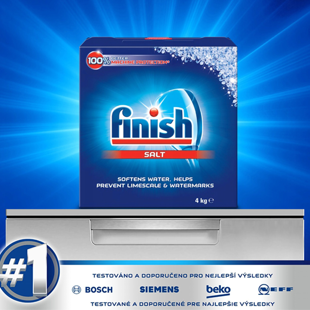 Muối rửa chén Finish Dishwasher Salt 4kg QT017389 2