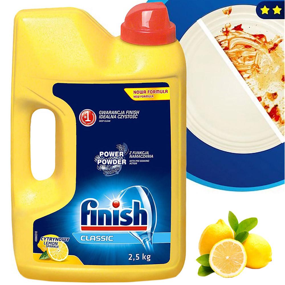 Bột rửa chén Finish 2,5 kg QT017384 hương chanh 2