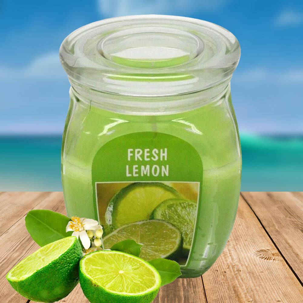 Hũ nến thơm tinh dầu Bolsius 305g QT024371 hương chanh tươi 1