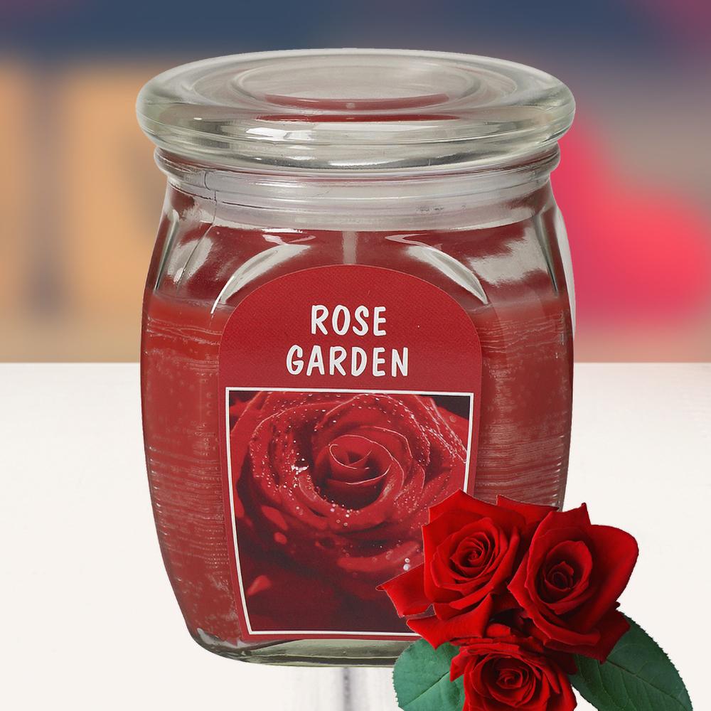 Hũ nến thơm tinh dầu Bolsius 305g QT024372 vườn hoa hồng 1