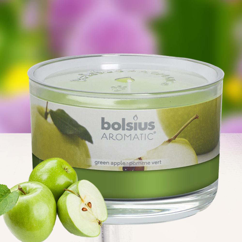 Ly nến thơm tinh dầu Bolsius 155g QT024882 hương táo xanh 1