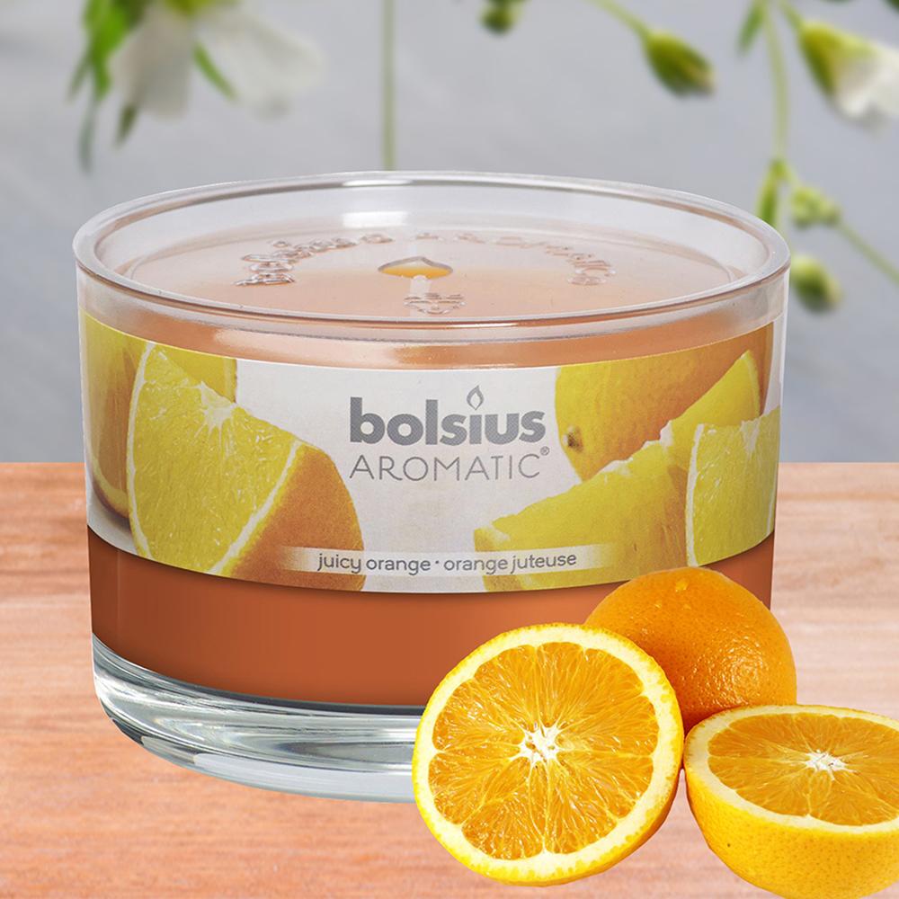 Ly nến thơm tinh dầu Bolsius 155g QT024881 hương cam ngọt 1