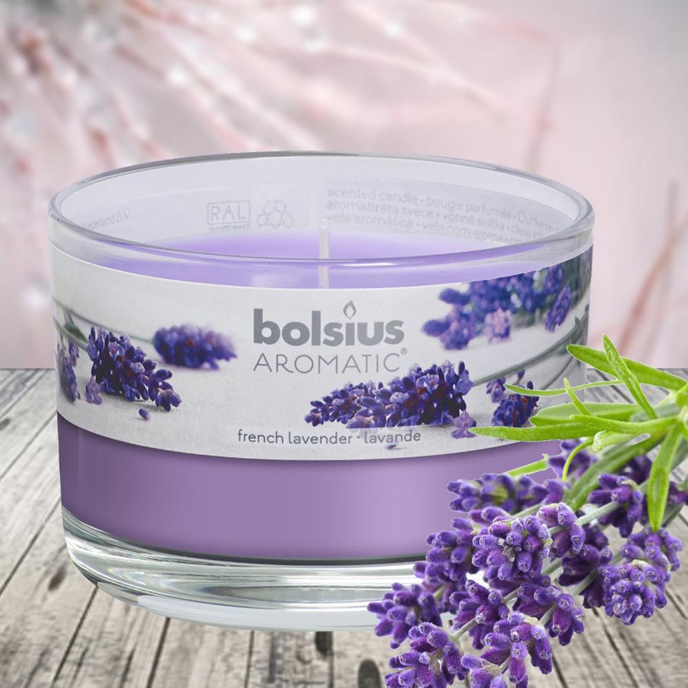 Ly nến thơm tinh dầu Bolsius 155g QT024878 hoa oải hương 1