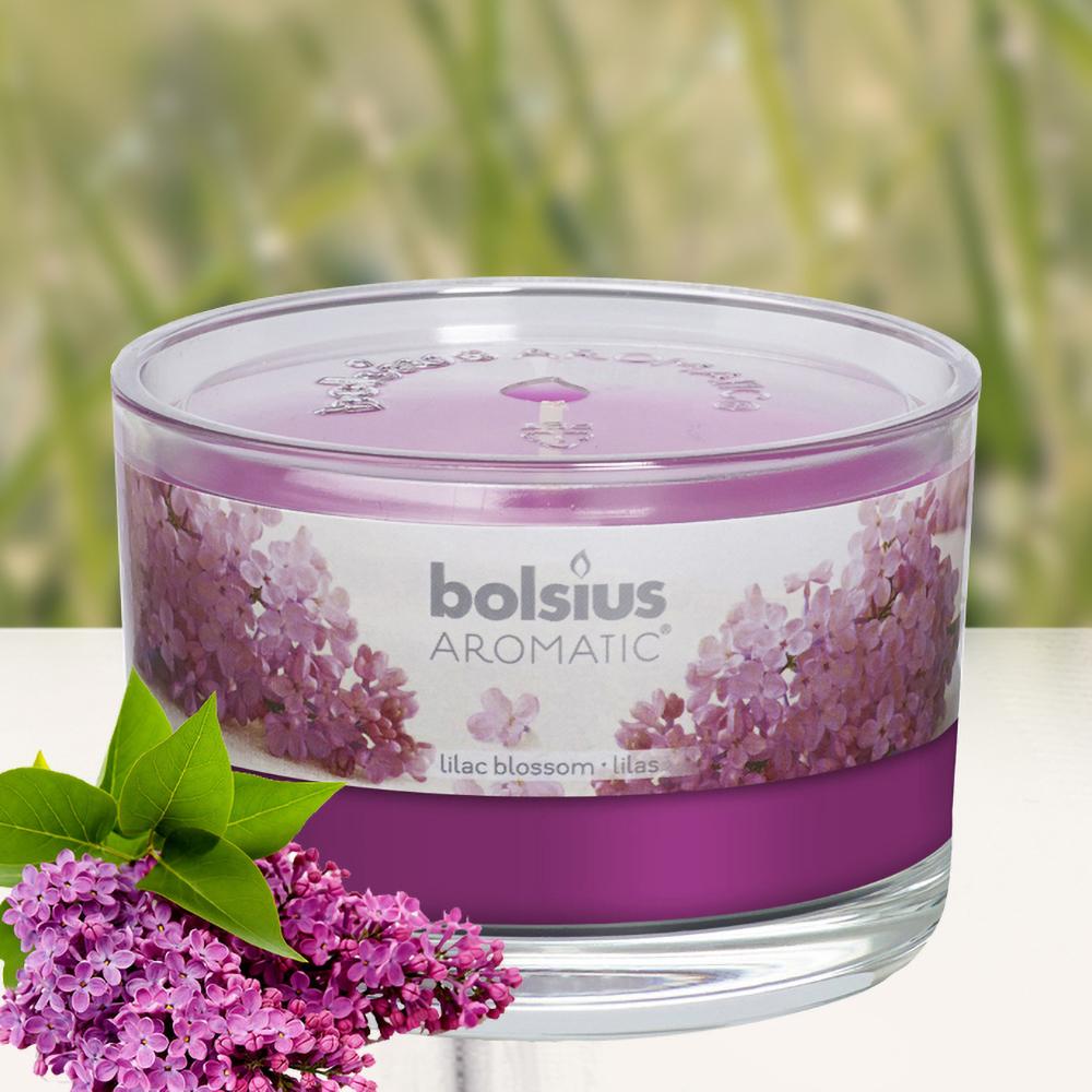 Ly nến thơm tinh dầu Bolsius 155g QT024875 hoa tử đinh hương 1