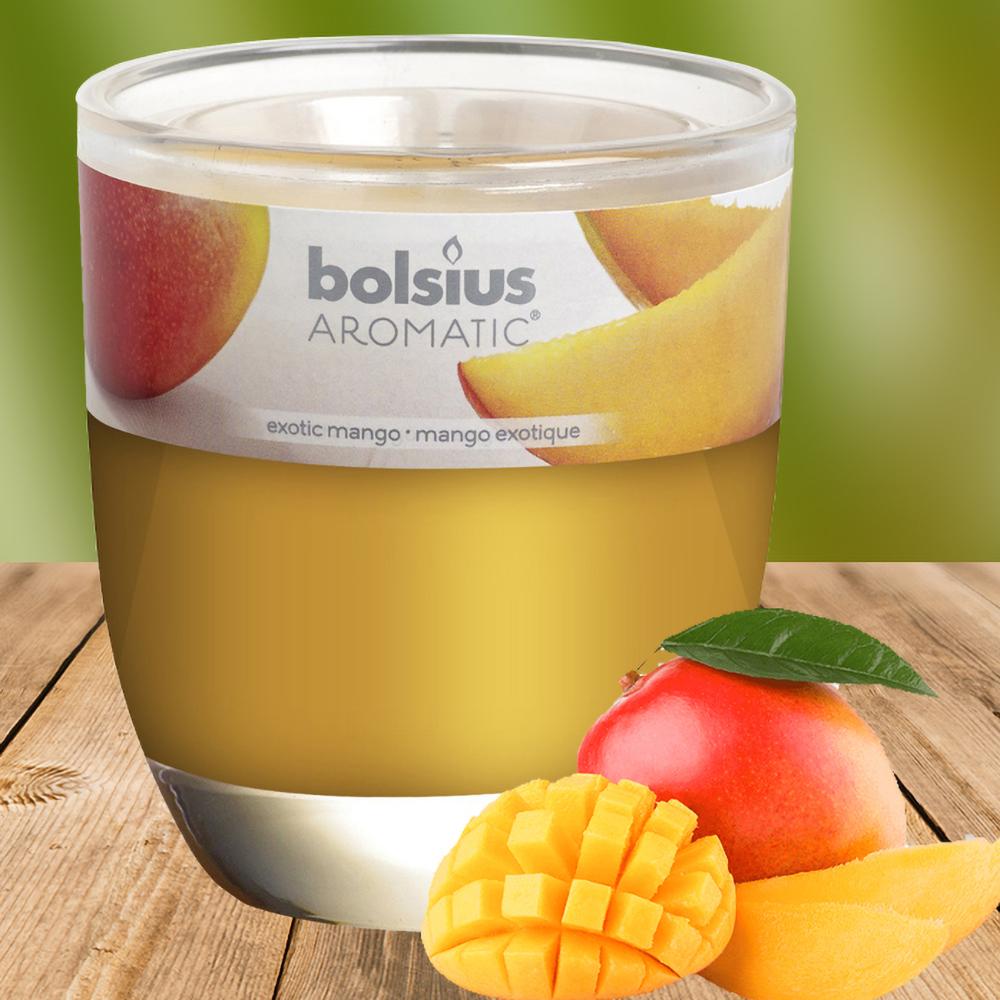 Ly nến thơm tinh dầu Bolsius 105g QT024334 hương xoài rừng 1
