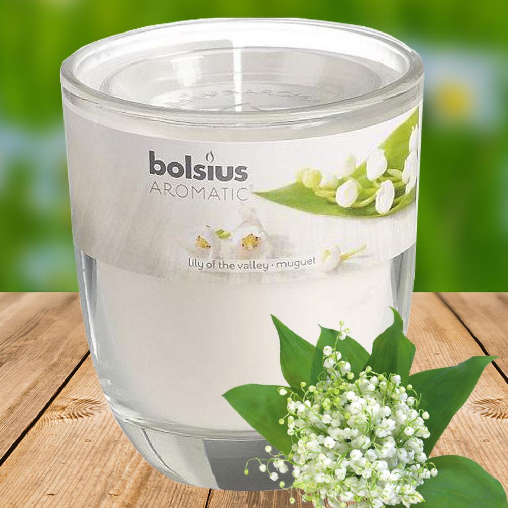 Ly nến thơm tinh dầu Bolsius 105g QT024330 hoa lan chuông 1