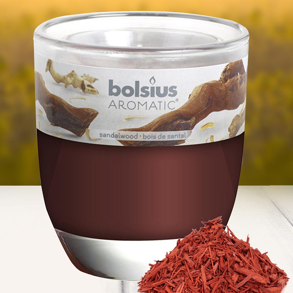 Ly nến thơm tinh dầu Bolsius 105g QT024347 gỗ đàn hương 1
