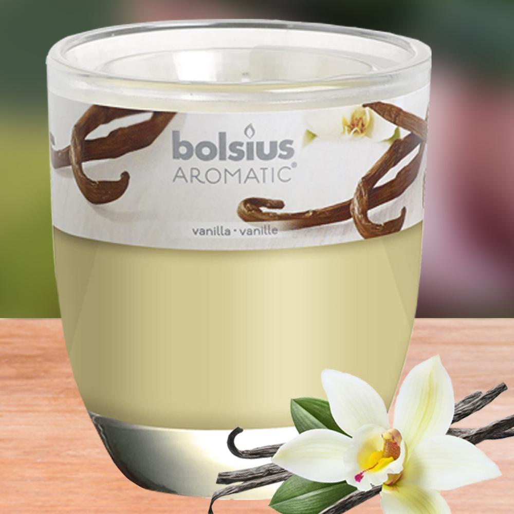 Ly nến thơm tinh dầu Bolsius 105g QT024339 hương hoa vani 1