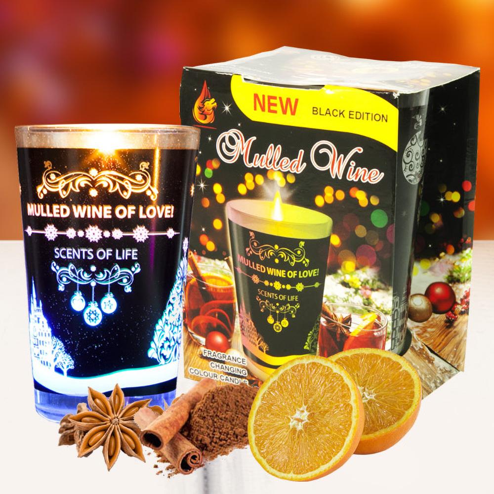 Ly nến thơm đổi màu Golden Dragon 140g QT028407 cam, quế,hồi 1