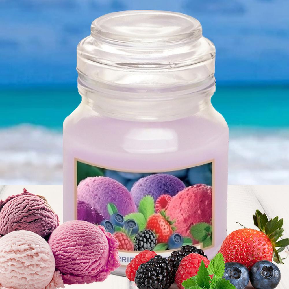 Hũ nến thơm tinh dầu Bartek 130g QT028520 hương trái cây 1