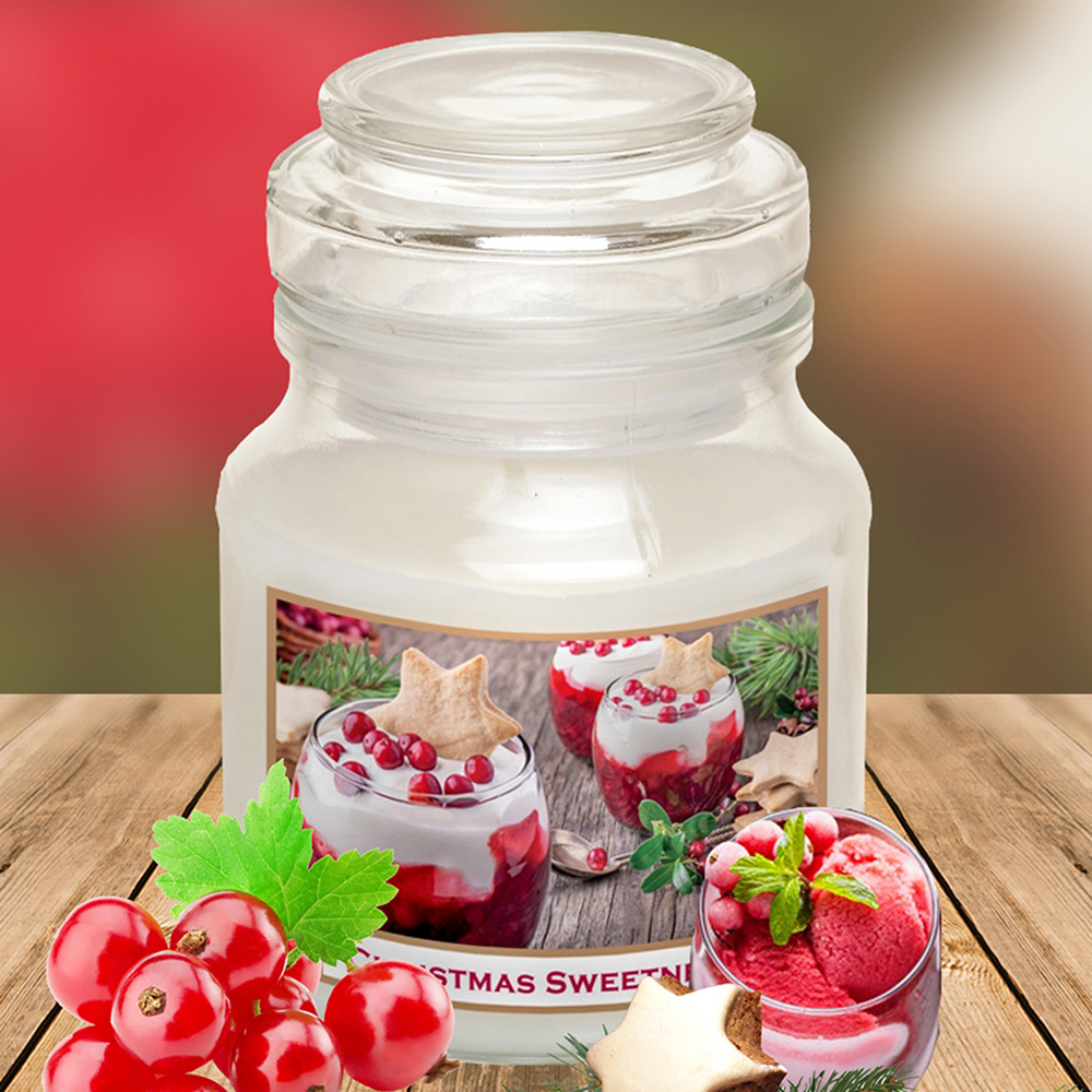 Hũ nến thơm tinh dầu Bartek 130g QT06654 nho chuỗi ngọc 1