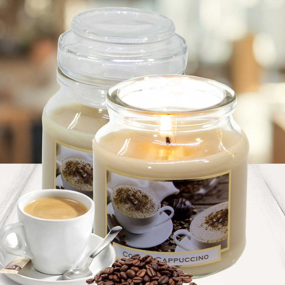 Hũ nến thơm tinh dầu Bartek 130g QT06647 cà phê capuchino 1