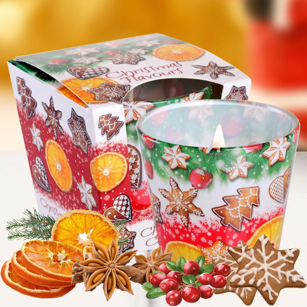 Ly nến thơm tinh dầu Bartek 115g QT028600 hương bánh cam 1
