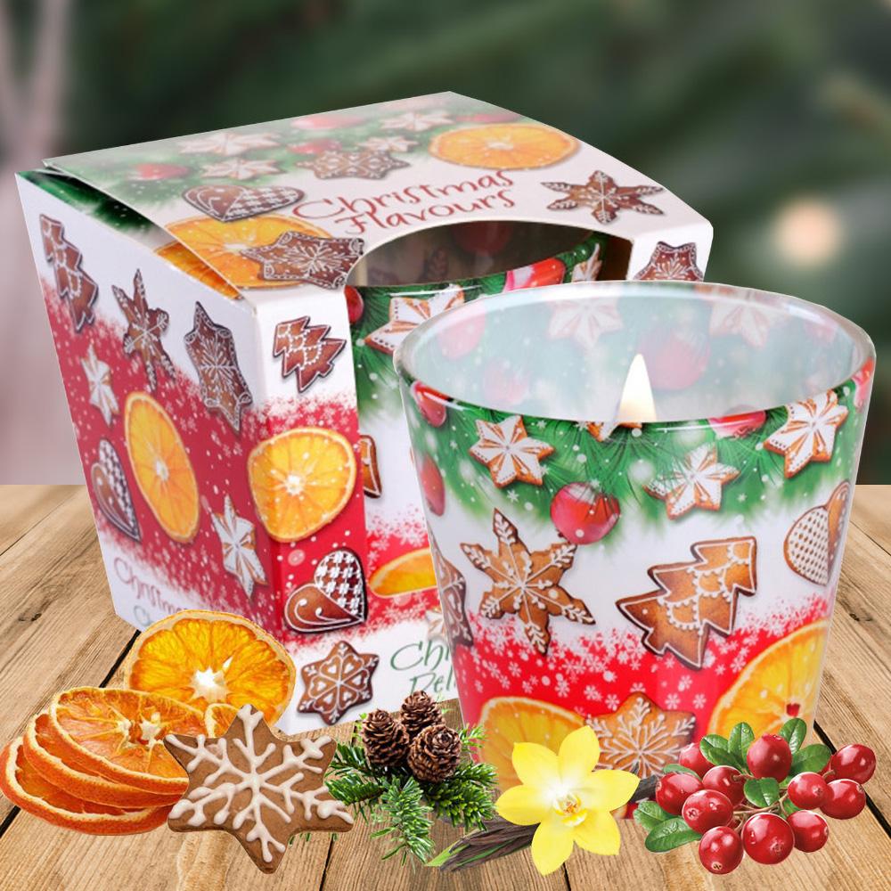 Ly nến thơm tinh dầu Bartek 115g QT028600 hương bánh cam 2