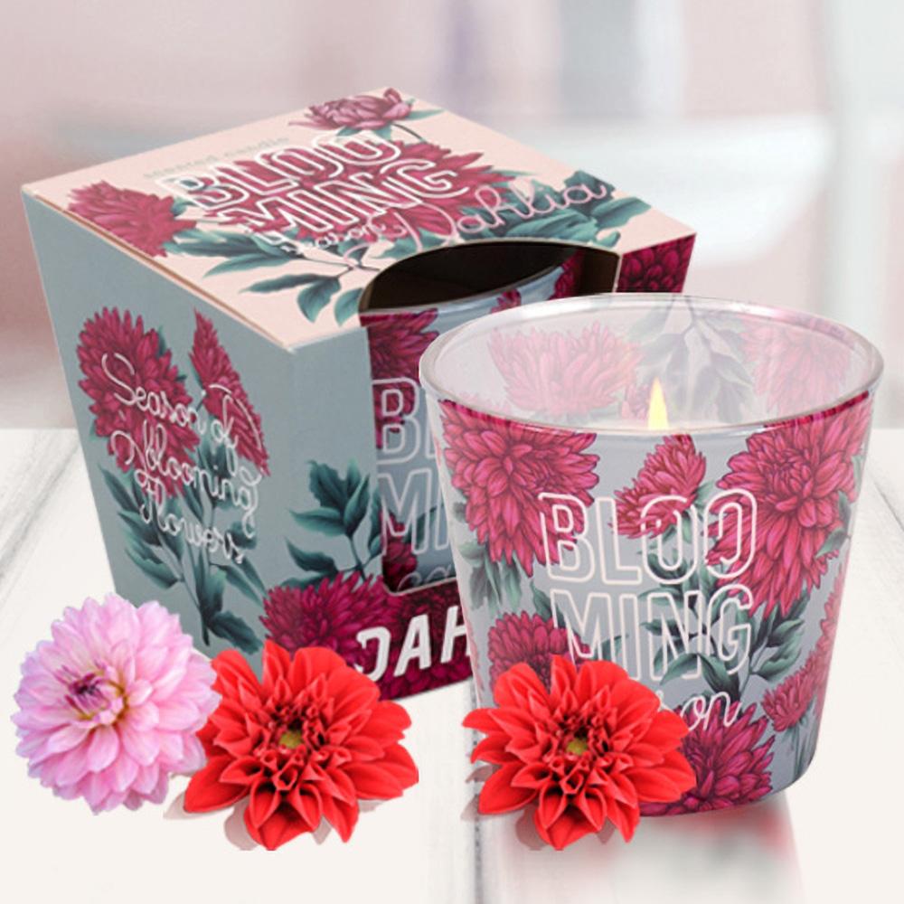 Ly nến thơm tinh dầu Bartek 115g QT04960 hồng, thược dược 1