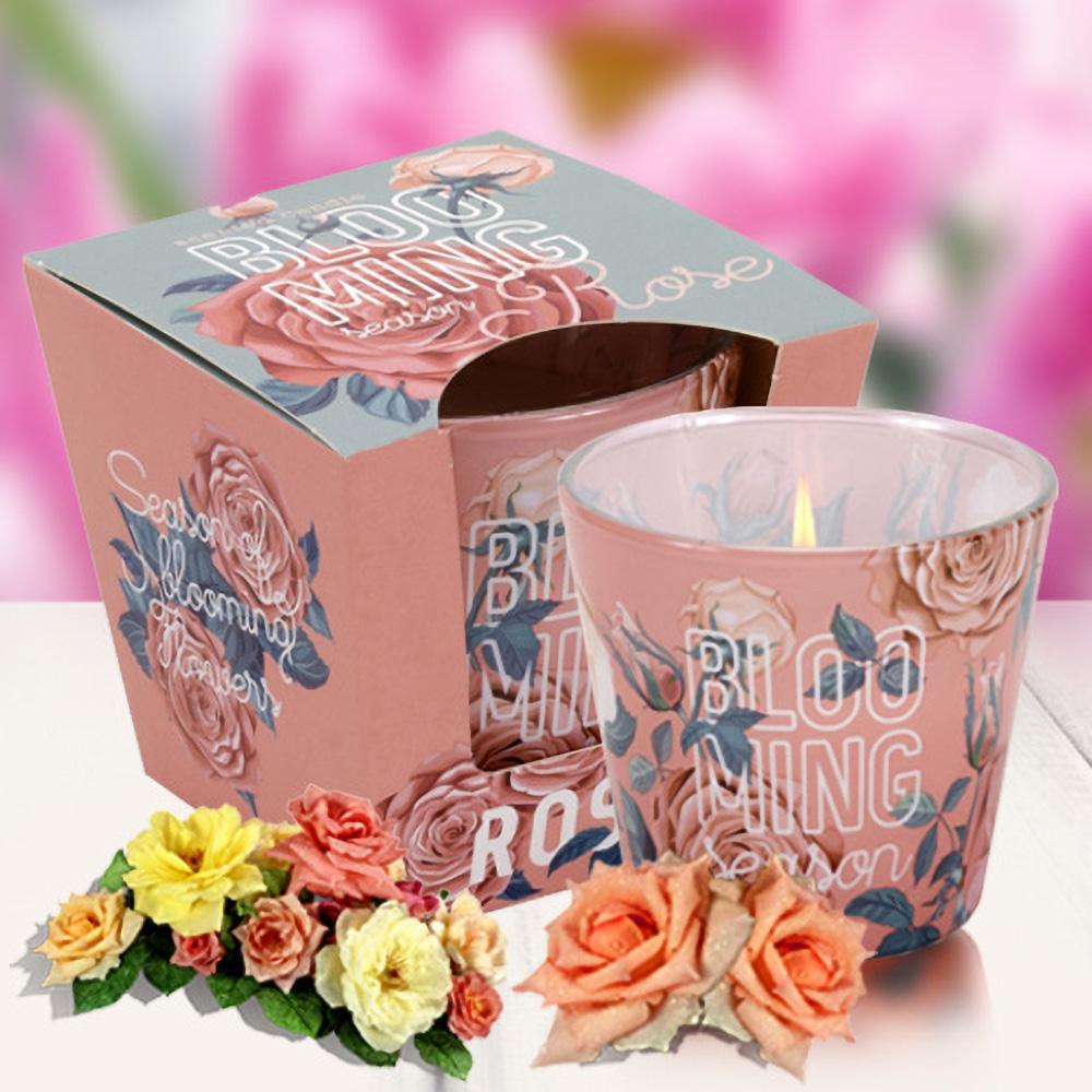 Ly nến thơm tinh dầu Bartek 115g QT04960 hồng, thược dược 2
