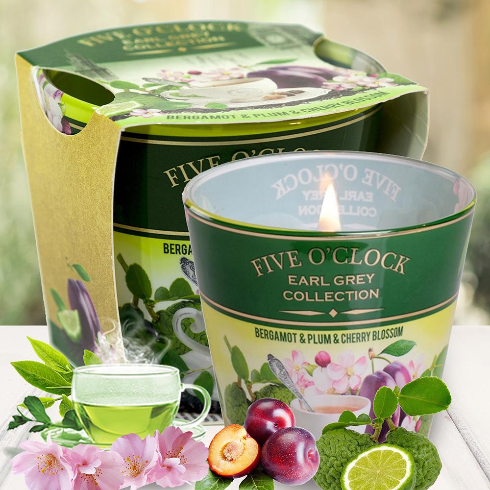 Ly nến thơm tinh dầu Bartek 115g QT029897 hương trà cam 2