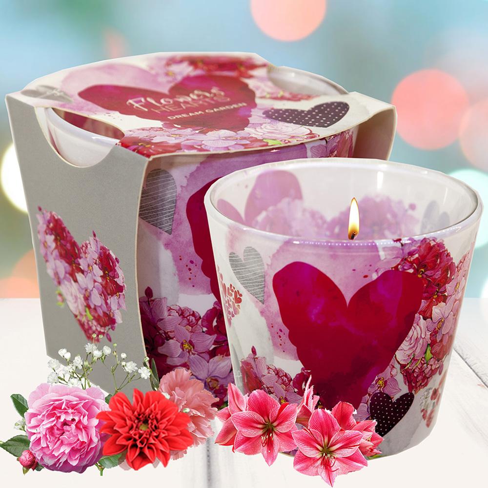 Ly nến thơm tinh dầu Bartek 115g QT00669 hoa păng xê 1