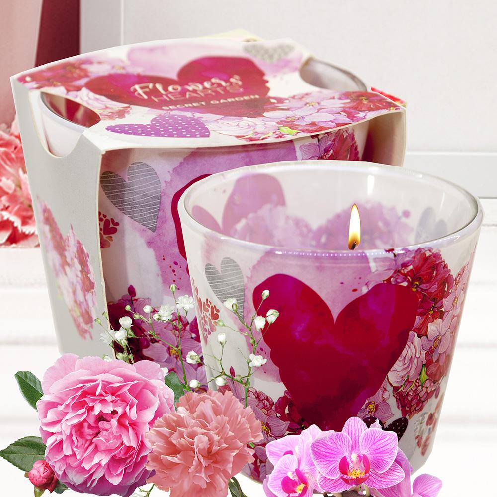 Ly nến thơm tinh dầu Bartek 115g QT00669 hoa păng xê 2
