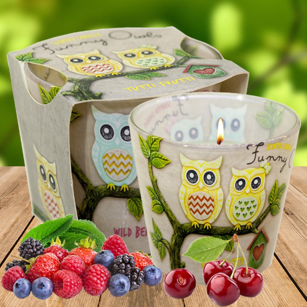 Ly nến thơm tinh dầu Bartek 115g QT00668 hương quả ngọt 1
