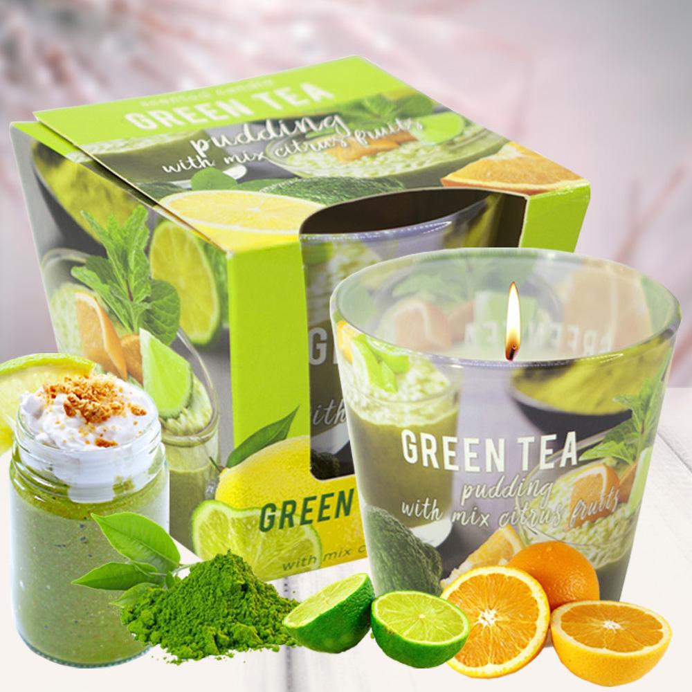 Ly nến thơm tinh dầu Bartek 115g QT04964 matcha trà xanh 2