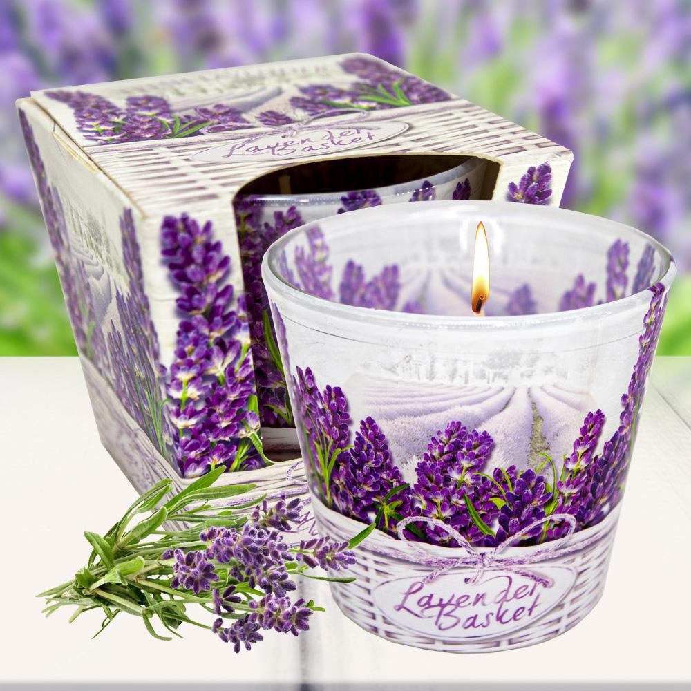 Ly nến thơm tinh dầu Bartek 115g QT024459 hoa oải hương 2