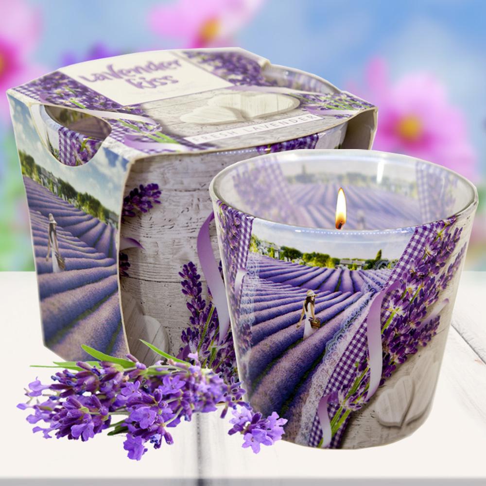 Ly nến thơm tinh dầu Bartek 115g QT00663 nụ hoa oải hương 1