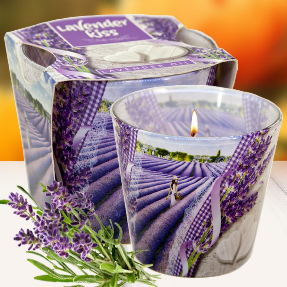 Ly nến thơm tinh dầu Bartek 115g QT00663 nụ hoa oải hương 2