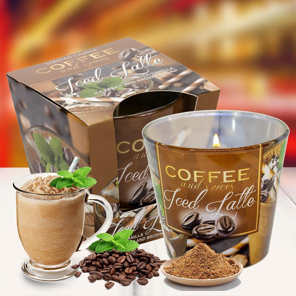 Ly nến thơm tinh dầu Bartek 115g QT04961 cà phê capuchino 2