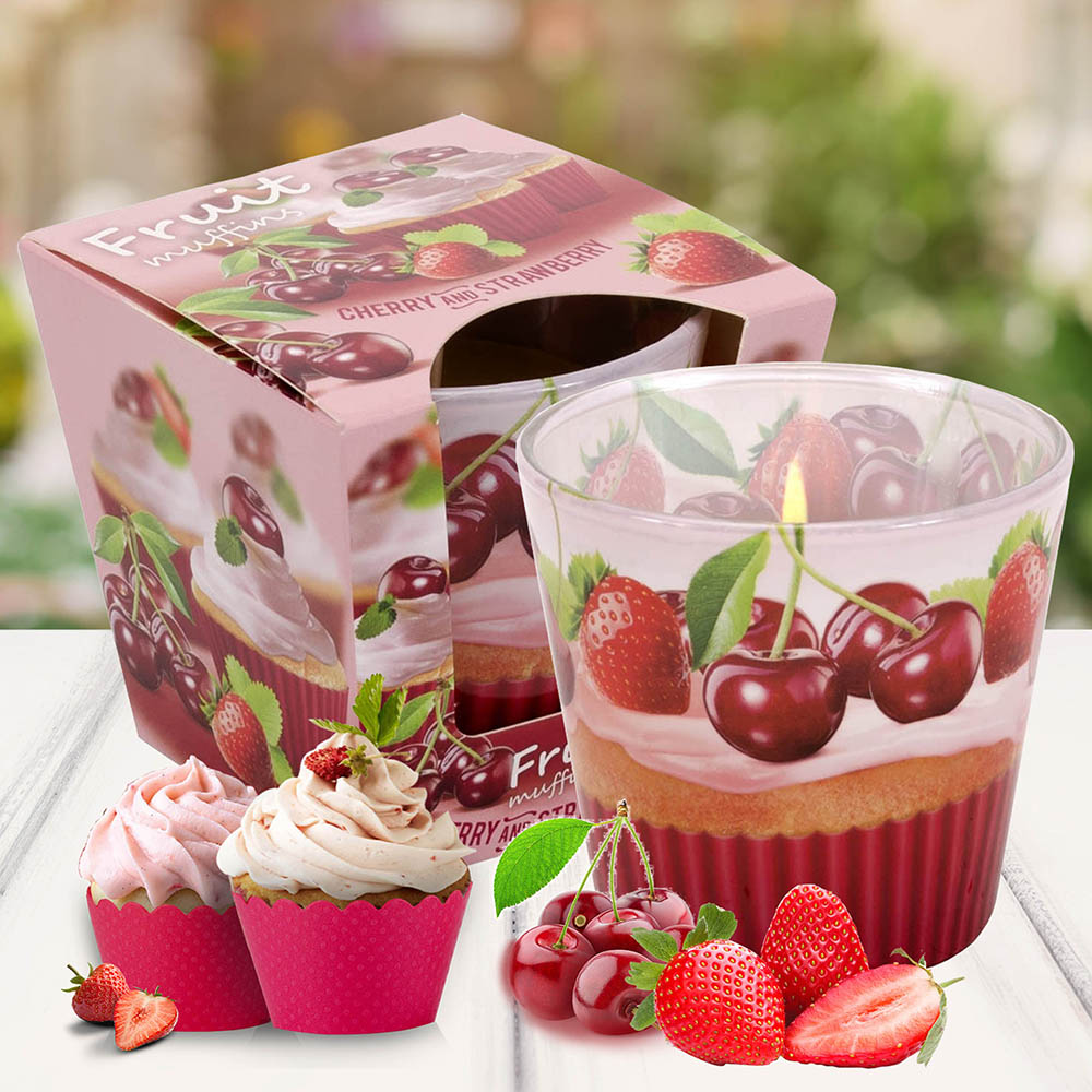 Ly nến thơm Bartek 115g QT00665 bánh muffin trái cây 1