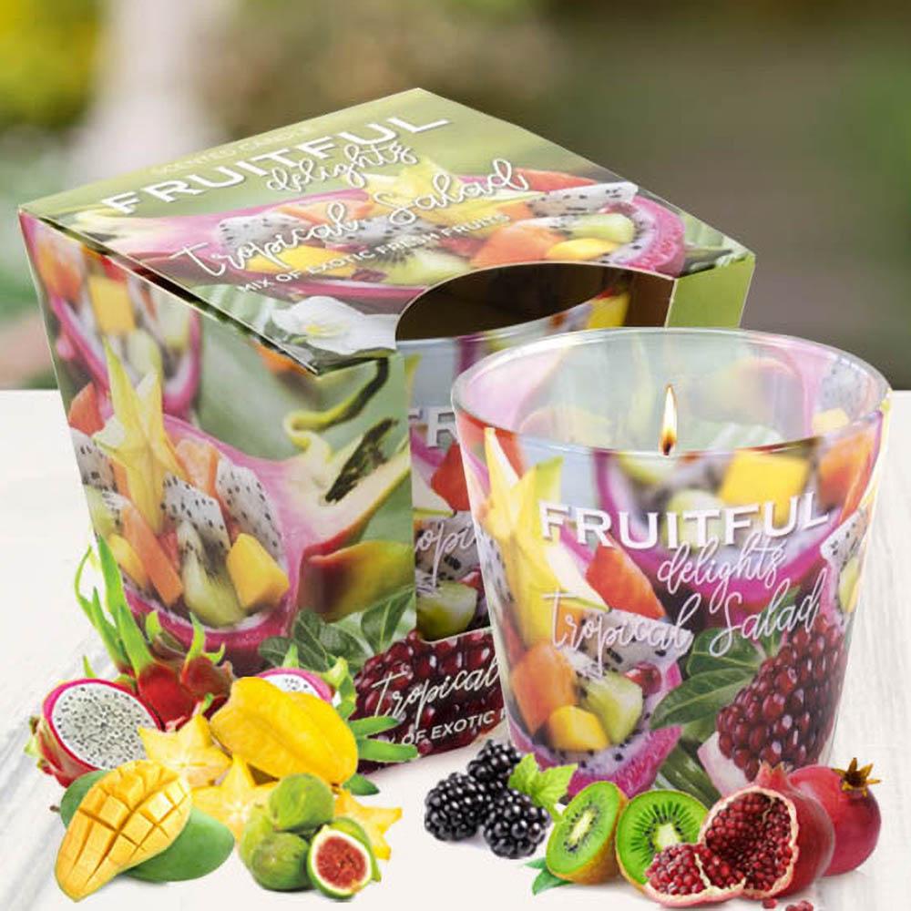 Ly nến thơm tinh dầu Bartek 115g QT04963 hương trái cây 2