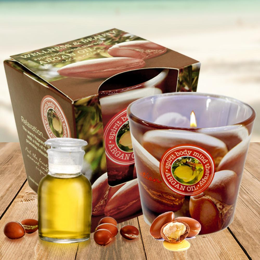 Ly nến thơm tinh dầu Bartek 115g QT00666 hương hoa bông 1
