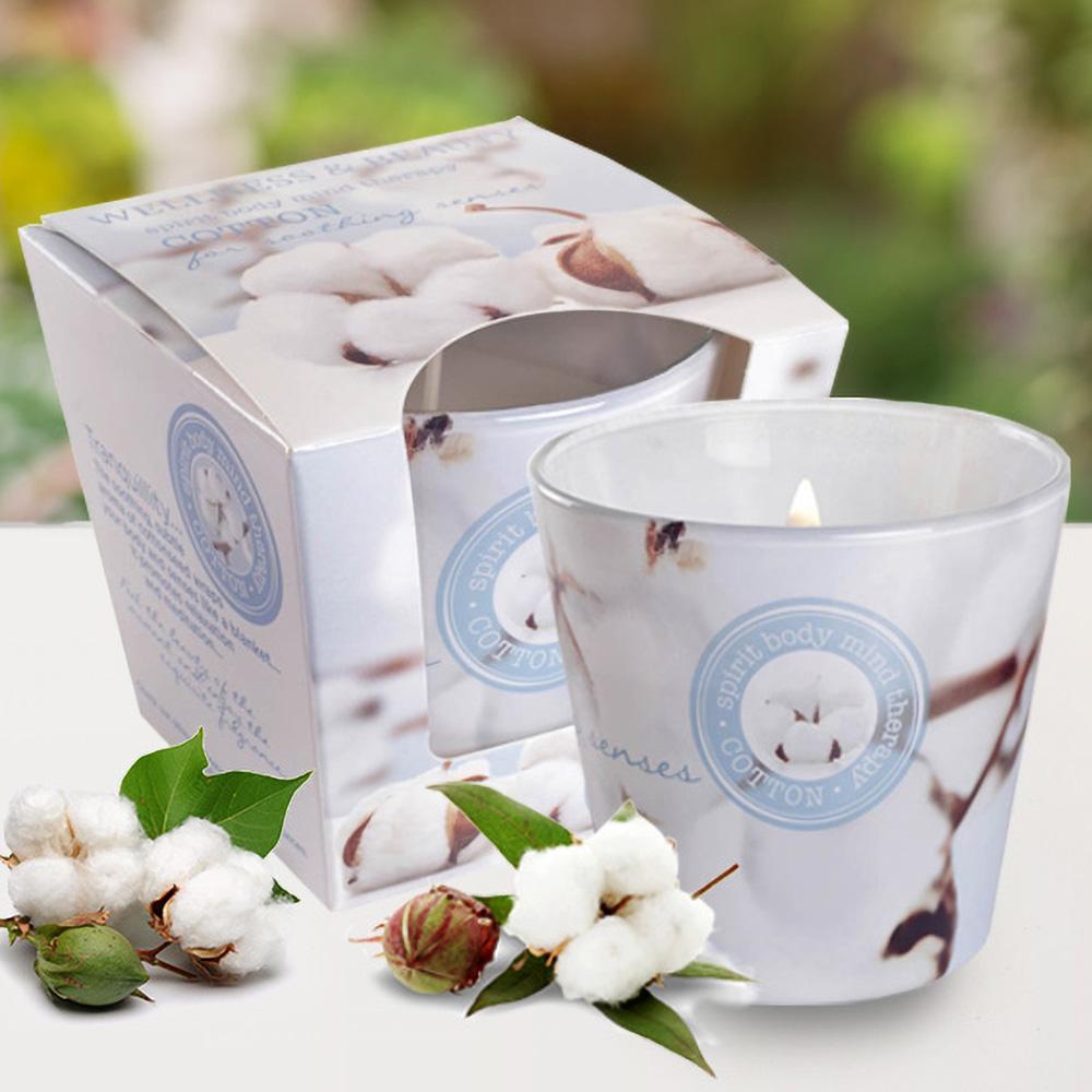 Ly nến thơm tinh dầu Bartek 115g QT00666 hương hoa bông 2