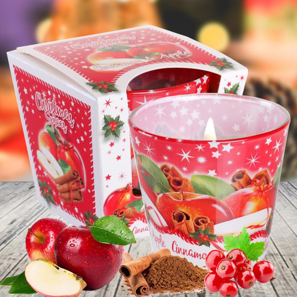 Ly nến thơm tinh dầu Bartek 115g QT028602 cam, táo, quế 1