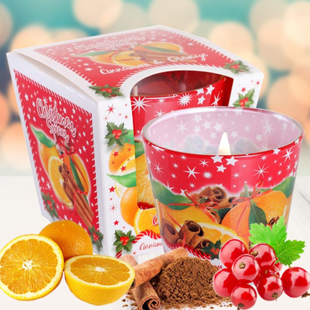 Ly nến thơm tinh dầu Bartek 115g QT028602 cam, táo, quế 2