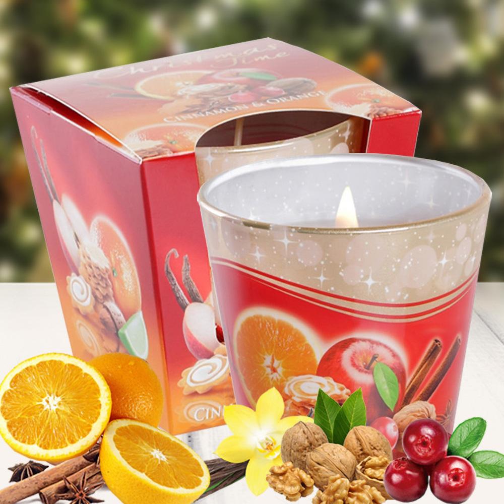 Ly nến thơm tinh dầu Bartek 115g QT028493 bánh táo, cam, quế 2