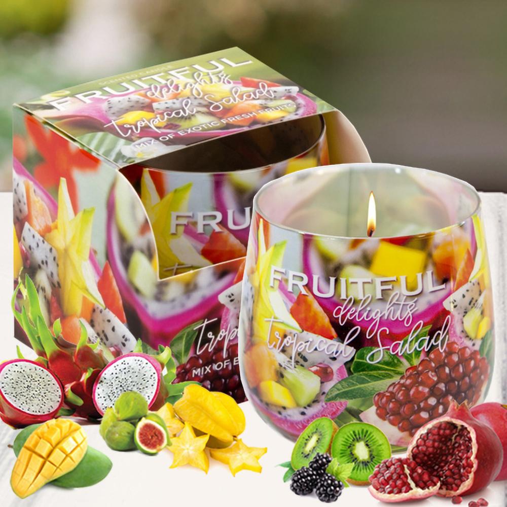 Ly nến thơm tinh dầu Bartek 100g QT04967 hương trái cây 1