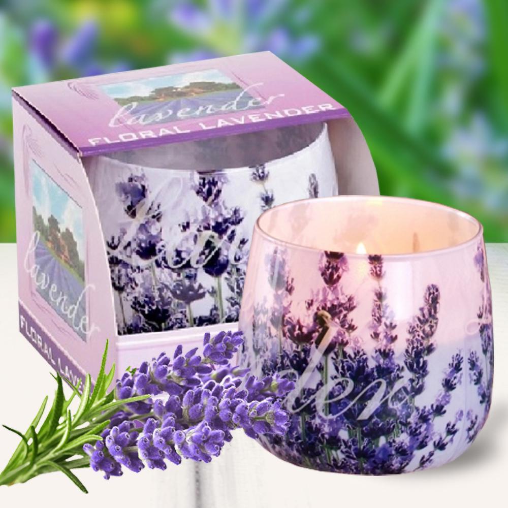 Ly nến thơm tinh dầu Bartek 100g QT025831 hoa oải hương 1