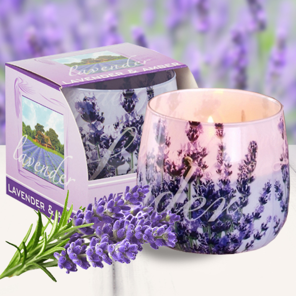Ly nến thơm tinh dầu Bartek 100g QT025831 hoa oải hương 2