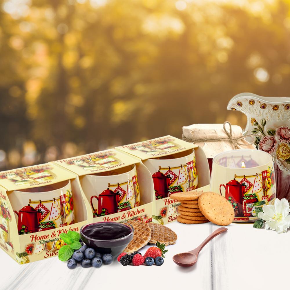 Ly nến thơm tinh dầu Bartek 100g QT024481 mứt trái cây 2
