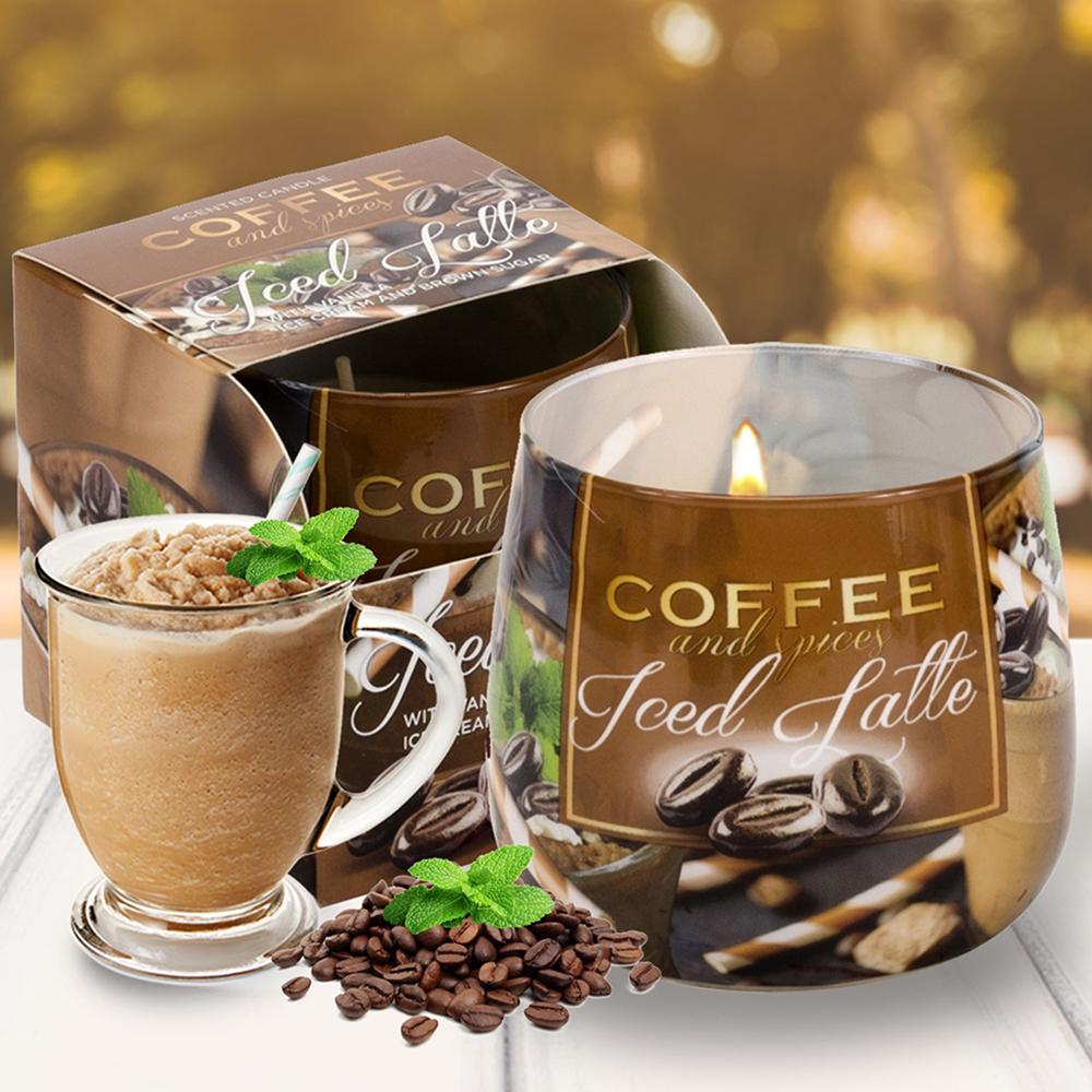 Ly nến thơm tinh dầu Bartek 100g QT04966 cà phê capuchino 1