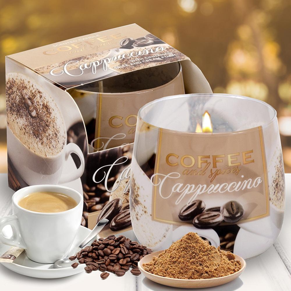 Ly nến thơm tinh dầu Bartek 100g QT04966 cà phê capuchino 2