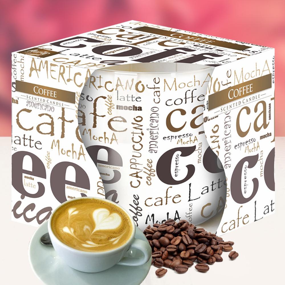 Ly nến thơm tinh dầu Bispol 100g QT024793 cà phê capuchino 1