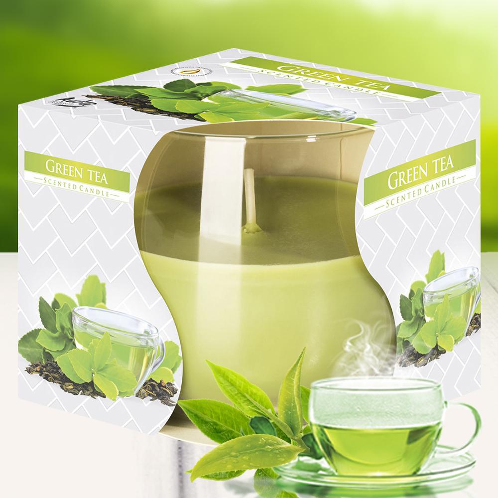 Ly nến thơm tinh dầu Bispol 100g QT024783 hương trà xanh 1