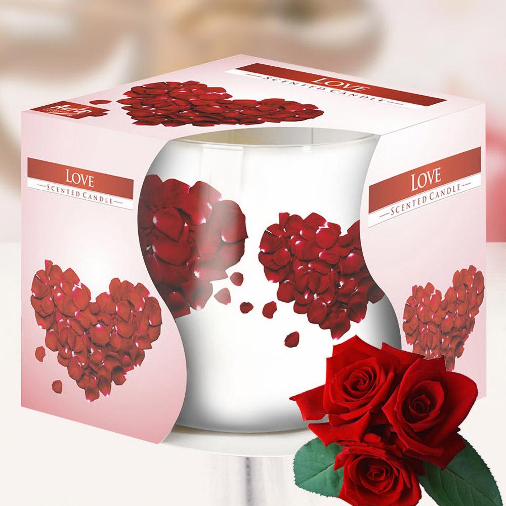 Ly nến thơm tinh dầu Bispol 100g QT024784 hoa hồng nhung 1