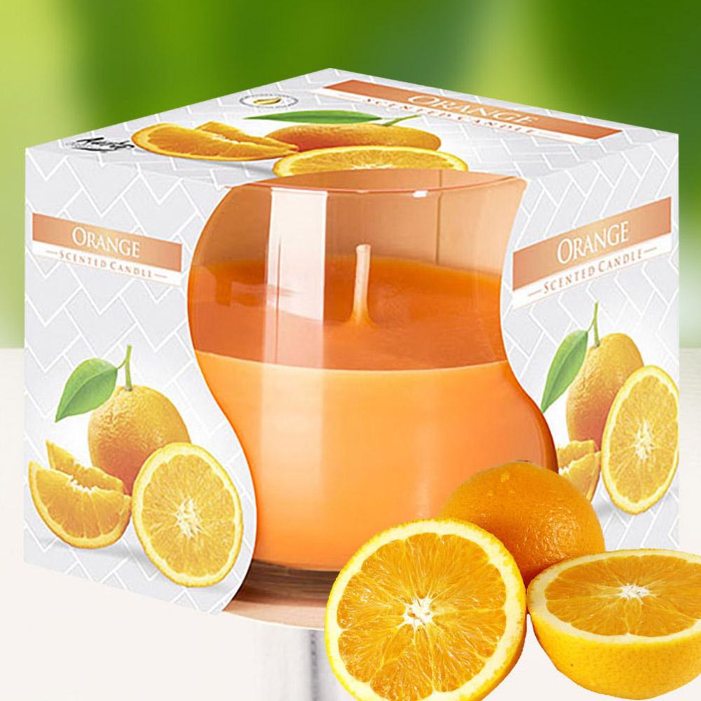 Ly nến thơm tinh dầu Bispol 100g QT024776 hương cam ngọt 1