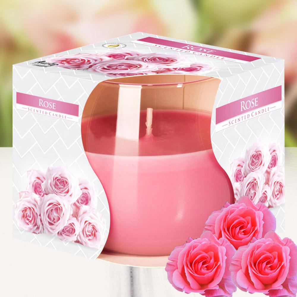 Ly nến thơm tinh dầu Bispol 100g QT024782 hương hoa hồng 1