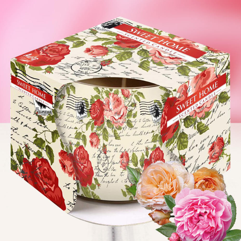 Ly nến thơm tinh dầu Bispol 100g QT029845 hoa hồng leo 1