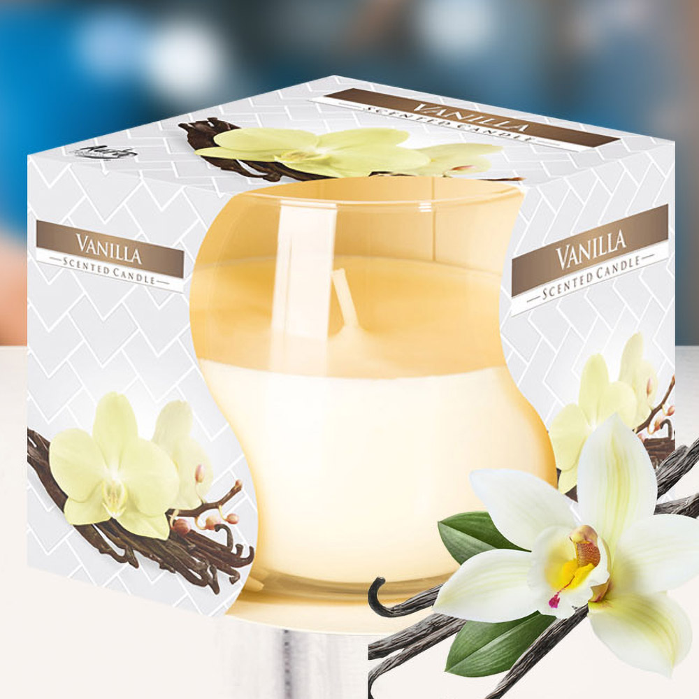 Ly nến thơm tinh dầu Bispol 100g QT024456 hương hoa vani 1