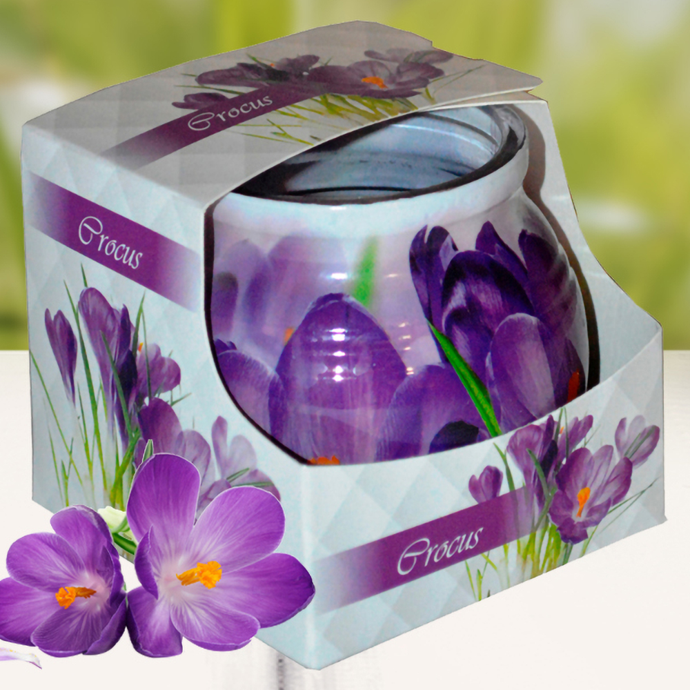 Ly nến thơm tinh dầu Admit 85g QT01892 hoa nghệ tây 1